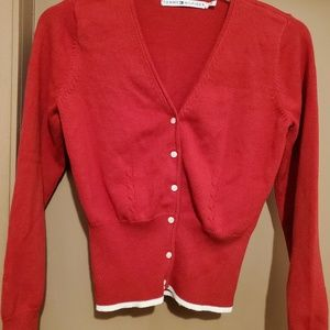 TOMMY HILFIGER RED SWEATER SZ M